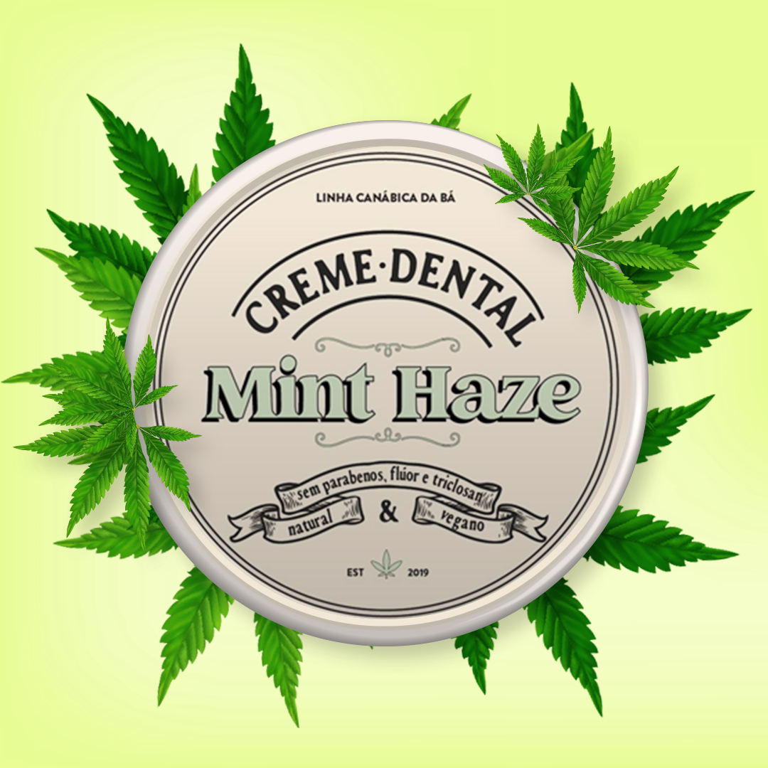 Creme Dental Mint Haze - Higiene Bucal de Cannabis